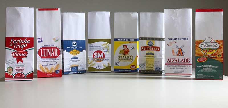 embalagens de sacos de farinha