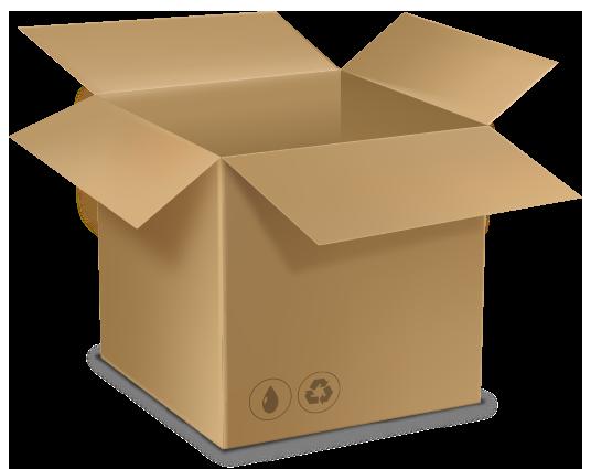 Caixa de papelão ideal