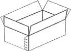 caixa de papelão simples